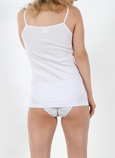 Miorre 2'Li Güpürlü Atlet Beyaz